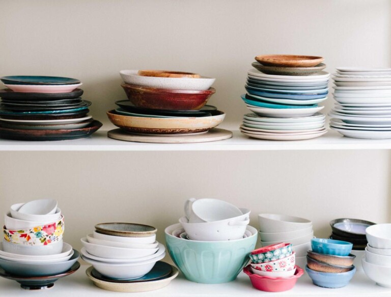 kitchen bowls and plates